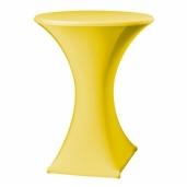 Statafel met designrok - geel