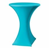 Statafel met designrok - turquois
