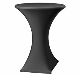 Statafel met designrok - zwart