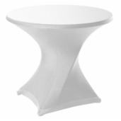 Tafelrok rond 86 strak design wit