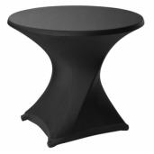 Tafelrok rond 86 strak design Zwart