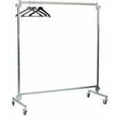Kledingrek-30 hangers- verrijdbaar